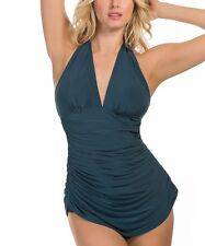 NEW Magicsuit MIRACLESUIT SWIMSUIT 14 44 TANKINI 2 PC Traci Green Slimming