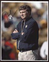 Paul Johnson Signed 8x10 Photo College NCAA Football Coach Autograph Navy