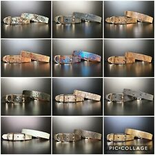 14 Colours MEDIUM Leather Dog Collars Beagle, Cocker Spaniel, Maltese, Dachshund