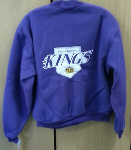 Los Angeles Kings Vintage purple fleece Jacket by Swingster