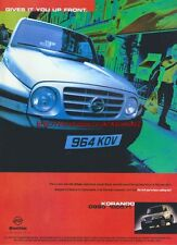 Ssangyong Korando 4x4 Car 1997 Magazine Advert #2938