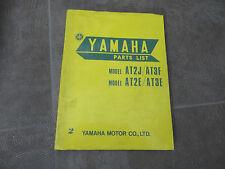 Yamaha Parts List catálogo de repuestos at2 J at3 e at2e explosión dibujos din4