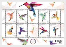 Caribian Netherlands St Eustatius 2018 Hummingbirds Sheetlet mnh c