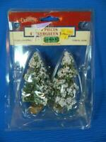 """Lemax Dickensvale 4"""" Snowy Evergreen Trees Christmas Village ~ NEW -PLEASE READ"""