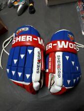 Vintage Sherwood Gold Sg- 5040 Hockey Gloves Sher Grip