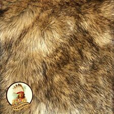 Faux Wolf Skin Accent Pelt Rug / Coyote Throw / Rectangle / Premium Faux Fur