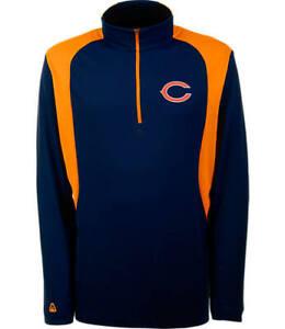 Men's Antigua Chicago Bears NFL Delta Quarter Zip Shirt - M