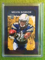 MELVIN GORDON ROOKIE CARD RC CHARGERS SP Rare Blue Frame FOIL 2015 Panini GK#137