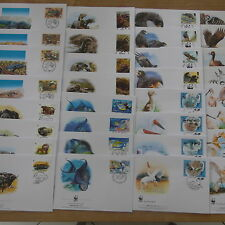 LOT TIMBRES ANIMAUX  WWF 30  SERIES COMPLETES FDC / WWF STAMPS ANIMALS