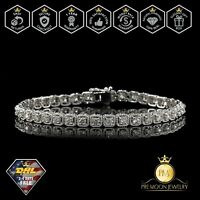 0.7 Ct Round HUGE Natural Real Diamond Tennis Bracelet 14K White Gold