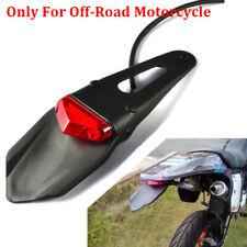 LED Red Motorcycle Enduro Trial Bike Mud Guard Tail Light Fender Signal Lamp