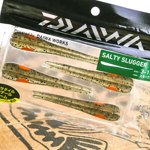"DAIWA Salty Slugger Soft Plastic Wobbling Worm Bait 4.25"" 3.25"" PICK SIZE/COLOR"