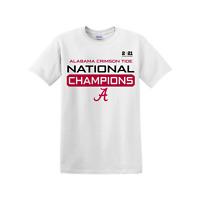 Alabama Crimson Tide College Football National Champions 2021 T-Shirt White