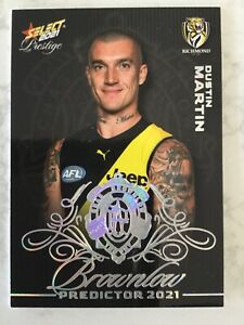 2021 Select Prestige - Brownlow Predictor BPP27 - Dustin Martin #026 - Richmond