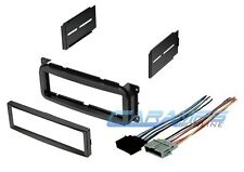 CAR STEREO RADIO CD PLAYER DASH INSTALLATION MOUNTING TRIM KIT WITH WIRE HARNESS