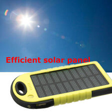 Portable 5000mah Dual USB Solar Power Bank Battery Case Cell Phone Charger