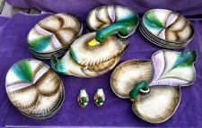 Vintage SET Italian RB Hand Painted MALLARD Plates Bowls Platter Covered Vegie