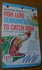 """Vivif Fishing Lure 1/3 oz 3"""" France Noc Nos Vintage Antique Trout Bass Gear"""