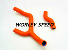 Silicone Radiator Hose Kit Clamps For KTM 350 SXF 350SX-F 2011 2012 Dark Orange
