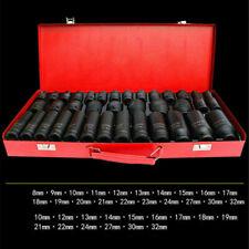 "Deep Impact Socket Set 1/2"" Drive Long Reach Wall Sockets 8-32mm Tools with Case"