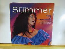 DONNA SUMMER STATE OF INDEPENDENCE / LOVE JUST A BREATH AWAY GEFFEN P/S 45 N/M