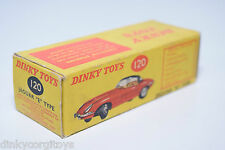 DINKY TOYS 120 JAGUAR E TYPE E-TYPE ORIGINAL EMPTY BOX NEAR MINT CONDITION