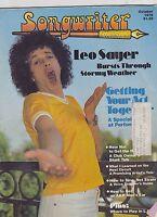 OCT 1978 - SONGWRITER music magazine - LEO SAYER