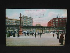 Antique POSTCARD Dewey Square, BOSTON, MA. c1909