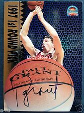 1997-98 Scoreboard PAUL GRANT Auto Certified Wisconsin Badgers Autograph