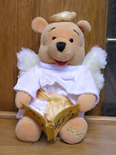 """Disney Angel Winnie the Pooh 9"""" Soft Plush with Wings & Halo"""