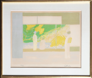 Bernard Cathelin, Ladies at the Window, Lithograph, signed and numbered in penci