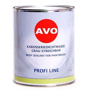 Karosseriedichtmasse streichbar Dichtmasse P AVO grau 1kg PU Dichtmasse A100108