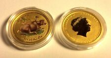 1/10 Oz gold ox 2009 Australian colorized lunar ounce SEALED ROLL of TWENTY
