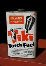 Vintage 1950's Mid Century Tiki Torch Fuel Advertising Can Sign Display RareFind