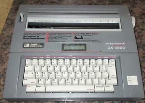 Smith Corona DX 4000 Portable Electric Typewriter Memory Correct Works, Clean