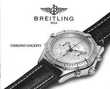 BREITLING CHRONO COCKPIT A30011 B30011 ANLEITUNG INSTRUCTIONS I135