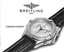 BREITLING CHRONO COCKPIT A30011 B30011 ANLEITUNG INSTRUCTIONS I135