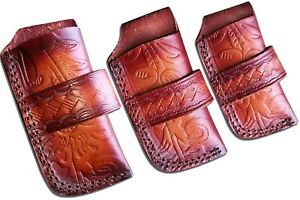 Handmade real leather  sheath pouch cover case holder for folding knife new
