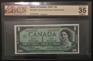 1967 Canada $1-BC-45bA-i - *B|M Replacement - BCS Graded VF 35 - #36478