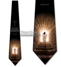He Has Risen Tie Men's Easter Holiday Religious Neck Ties Brand New