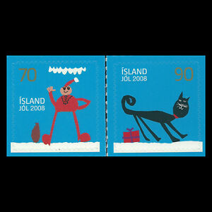Iceland 2008 - Merry Christmas - Self-Adhesive Stamps - Sc 1156/7 MNH