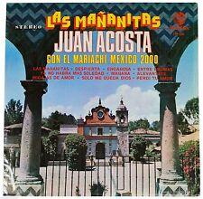 JUAN ACOSTA Las Mananitas Con El Mariachi Mexico 70s Vinyl LP In Shrink 1978