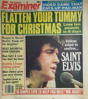 National Examiner Dec 21 1982 - Vatican Saint Elvis - Sexy Dreams - Sophia Loren