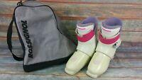 Ladies Rossignol R85 Ski Boots Skiing UK Size 5 or 245 mm Pink Creme Rear Load