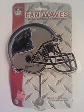 "Carolina Panthers 5"" Car Window Fan Wave NFL NFC Newton Stewart Olsen Ginn"