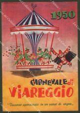 CARNEVALE DI VIAREGGIO 1950. Cartolina d'epoca viaggiata. Ottima conservazione.