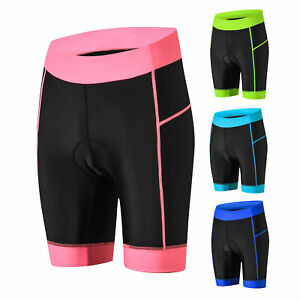 Womens Bike Shorts with 5D Gel Padded Cycling Underwear Sport Workout Tight Pant
