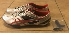 Asics Sonicsprint Track & Field Shoes Silver Black Red Men's Size 13