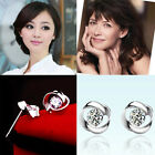Women Fashion Simple Jewelry Rotary Love Stud Earring Wedding Party Earrings