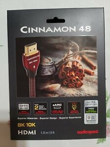 AudioQuest Cinnamon 48 8K-10K 48Gbps PVC HDMI Cable - 1.5m  (5 ft) *NEW*